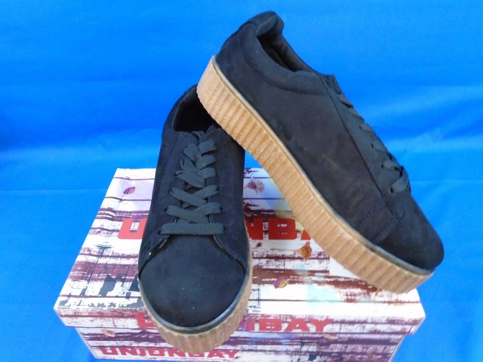 Women's Unionbat Fierce-U Fashion Sneaker Black Size 8