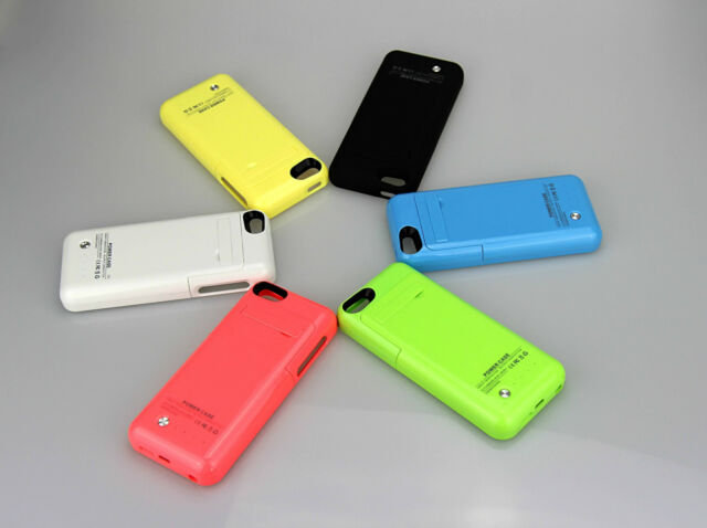 2200MAH RECHARGABLE BATTERY BACKUP CHARGER CASE FOR I PHONE 5, 5S & 5C
