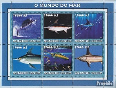 Mozambique Never Hinged 2002 World Of Marine Stamps Mozambique 2626-2631 Sheetlet Unmounted Mint