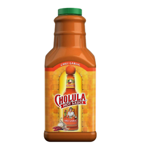 Cholula Chili Garlic Hot Sauce, 64 Ounce Bottle, Gluten ...