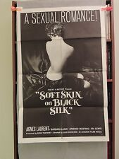 Soft Skin on Black Silk Original 1 sheet Movie Poster 1959 27x41 Sexploitation