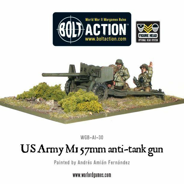 Warlord Warlord Warlord Games - Us Army M1 2 1 4in Anti-tank Gun 1 3 32in Bolt Action b936f6