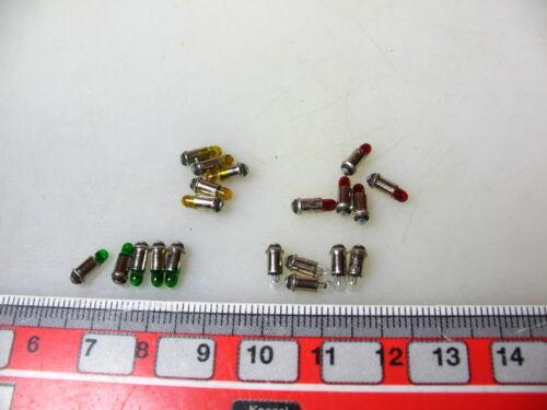 for Märklin 7187,7240 etc Green+Red+Yellow E.g # 20x Lightbulb Ms 2,8 Clear