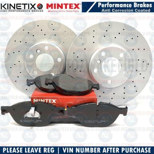 FOR BMW 530d M SPORT F07 F10 F11 FRONT DRILLED BRAKE DISCS MINTEX PADS 348mm