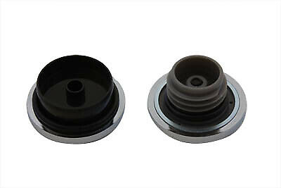 Maltese Style Vented and Non-Vented Billet Gas Cap Set,fits Harley Davidson m...