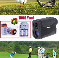 6x Golf Range Finder Pocket Flag Distance Scope Pinseeker Measure+battery Kit