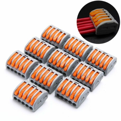 10pcs PCT-212//213//215 Spring Lever Terminal Block Electric Cable Wire Connector