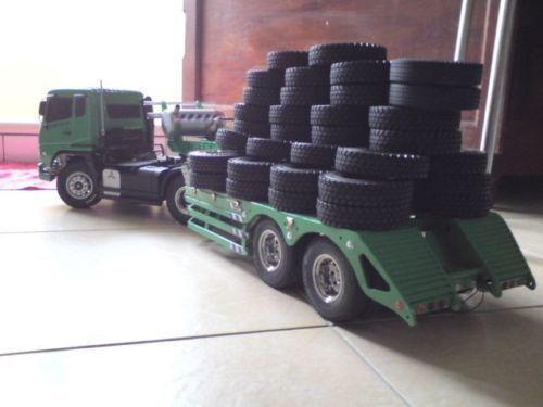 4x 1:14 RC Tamiya Traktor Kurzkurs LKW Auto Klettern Gummireifen Reifen