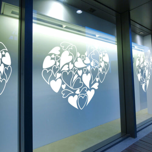 St Valentin COEURS SIGNE Retail Shop Window Display Wall Stickers Decals A334