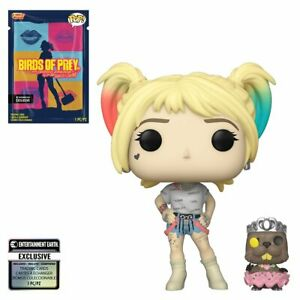 Funko-Pop-Birds-of-Prey-Harley-Quinn-amp-Beaver-308-EE-Exclusive-w-Card