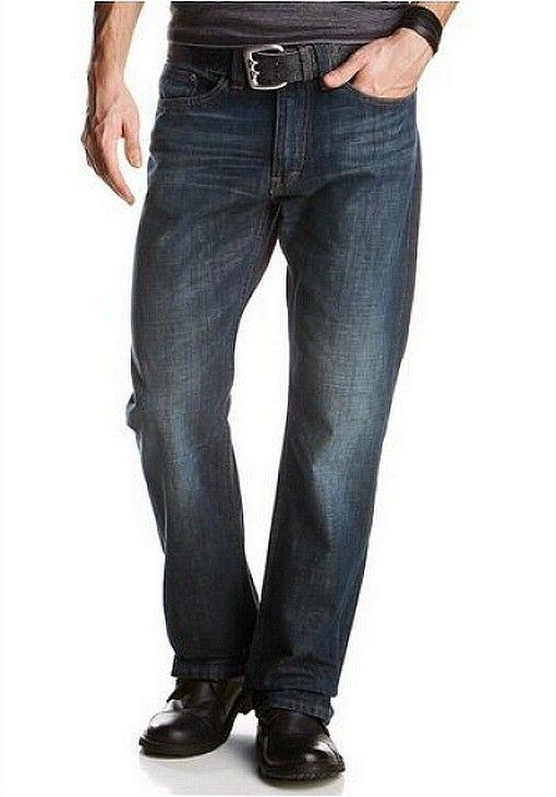 Mustang Jeans Nuovo w30 l32 UOMO DENIM PANTALONI DARK rinsed blu used avviocut PANTS