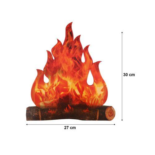 3D Decorative Cardboard Campfire Centerpiece Artificial Fire Fake Flame Paper...