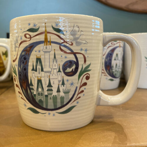 Disney Parks ABC Letters C is for Cinderella/'s Castle Ceramic Coffee Mug New