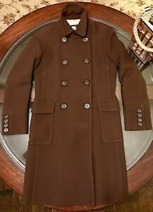 Brown 2 Wool Color Chocolate Breasted Coat J Crew Size Double Womens 01qxUWw6FA