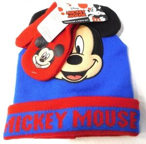 4be396a9b3430 Image is loading NEW-Disney-Mickey-Mouse-Cuff-Beanie-Hat-Gloves-