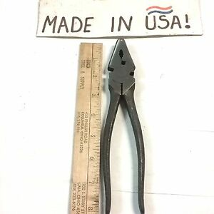 """8""""  Heavy Duty Crescent Tools Button Plier Fence Tool -1000-8 -NOS-blemish"""