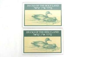 ISRAEL-DUCKS-OF-THE-HOLY-LAND-on-Stamps-1989-Lot-Of-2-Souvenir-Sheet