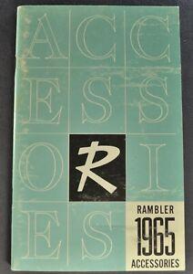 1965 Rambler Accessories Brochure American Ambassador Classic Wagon Original 65