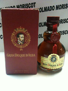 BRANDY DUQUE DE ALBA 5cl 40% GLASS miniatura mignonette minibottle SPAIN