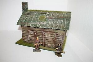 1643-Old-West-Trapper-Blockhaus-Angus-Rarsons-zu-7cm-Sammelfiguren-Wild-West