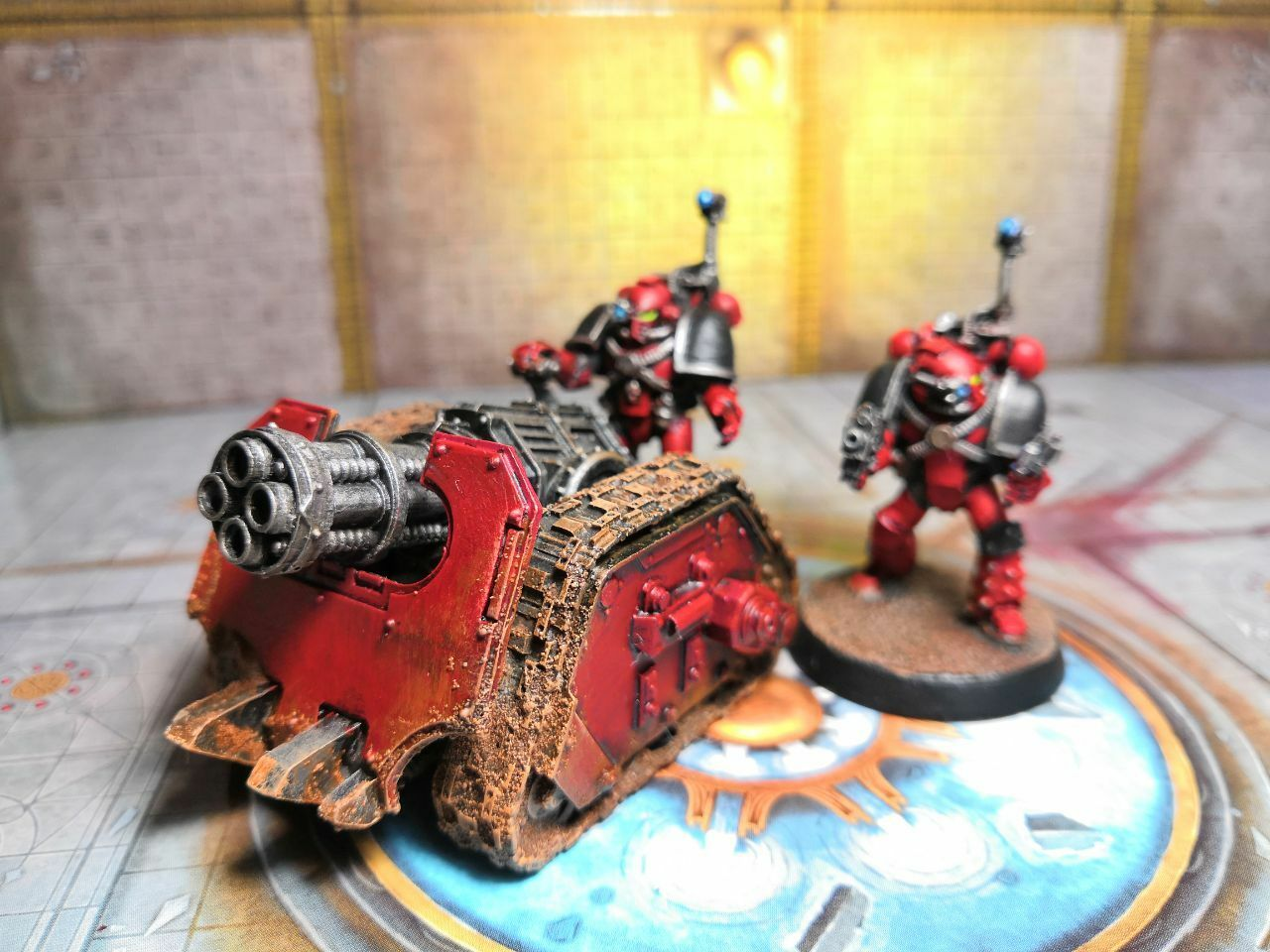 Word Bears Space Marine Rappier Quad Mortar smärtsamt Warhammer 40k