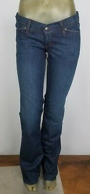 "Sensible Habitual Size 0 X 35"" Kimberly Half Baked Low Waist Adjustable Maternity Jeans Evident Effect"