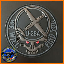 U-28A WE WILL FIND YOU PVC MORALE PATCH 34TH 318TH 319TH SPECIAL OPS SQ RED EYES