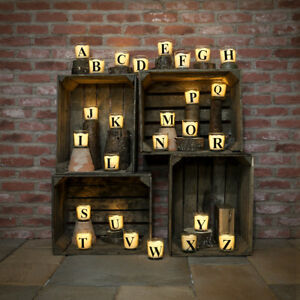 Battery-Alphabet-A-Z-Letter-Flickering-Wax-Glass-Jar-Candle-Vanilla-Scented