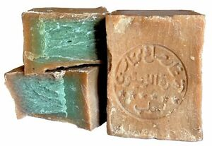Traditional-Aleppo-Soap-Savon-d-039-Alep-250g-Problematic-Skin-Hair-Laurel-Oil-50