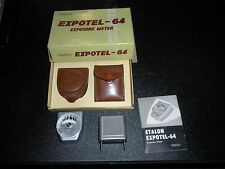 Vintage Etalon Expotel-64 Exposure Meter w original box, manual, cases
