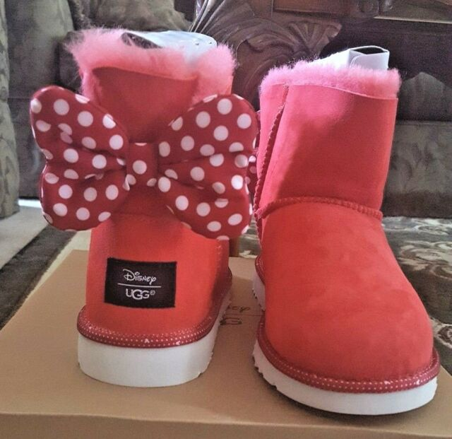 5bc3131888b UGG Disney Minnie Sweetie Bow BOOTS Limited Edition Kids Size 6 Fits Women 8