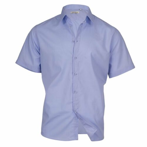 5931 Klassisches Herren Hemd Kurzarm Männer Hemd Slim-Fit Business Freizeit