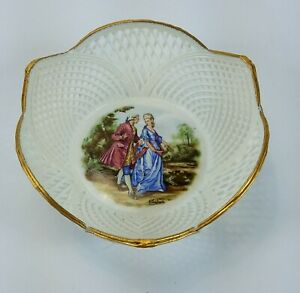 Vintage-Ceroc-CLUJ-NAPOCA-Laceware-Bowl-Candy-Dish-Porcelain-Ceramic-Romania