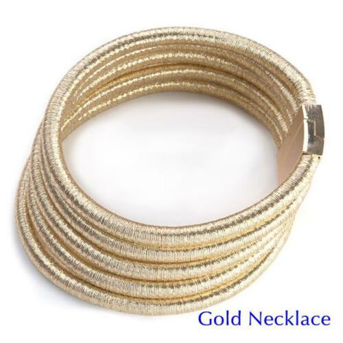 Collar Vintage Chocker Collier Femme Statement Maxi Magnetic Necklace Women