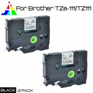 2PK TZ232 TZe-232 Red on White Tape Label Compatible Brother P-Touch 12mmx26.2ft
