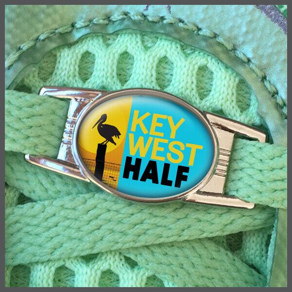 Key West 13.1 Half Marathon Runners Shoelace Shoe Charm or Zipper Pull