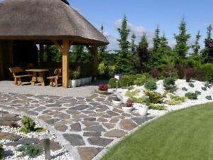4 Paletten = 40m² Gartensteine  4-6 cm Gartenplatten Polygonalplatten SCHIEFER