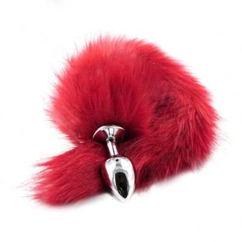 1 PC New Fantasy Toy Love Faux Fur Fox Tail Metal Plug Romance Games Cosplay