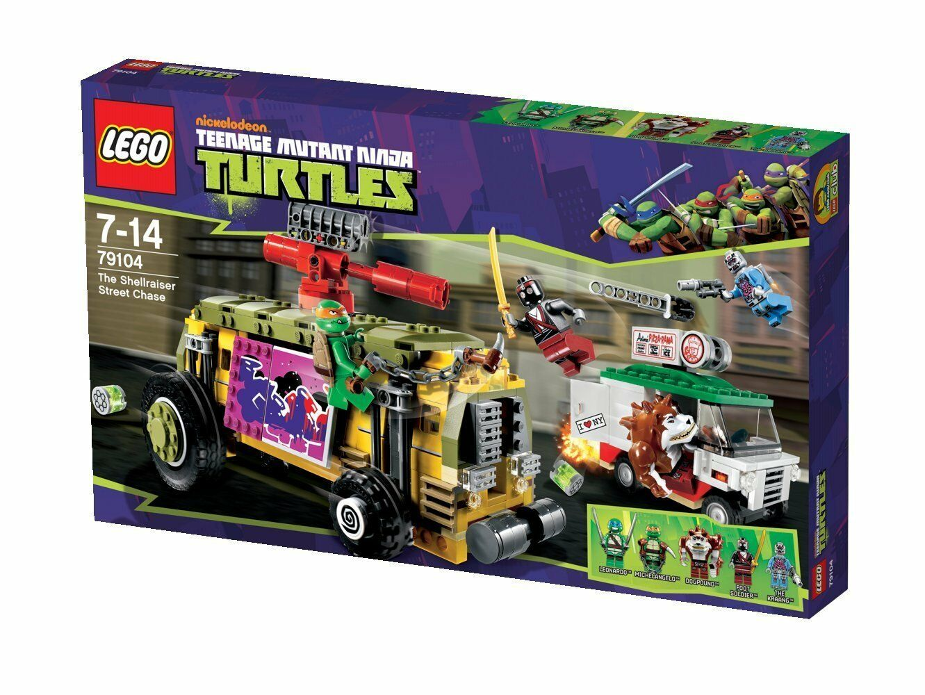 LEGO Turtles 79104  - The Shellraiser Street Chase - Ninja Turtles TMNT NEU NEW