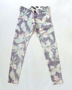 Guess Women S Skinny Ultra Low Floral Jeans Multicolor Sz 23 Ebay
