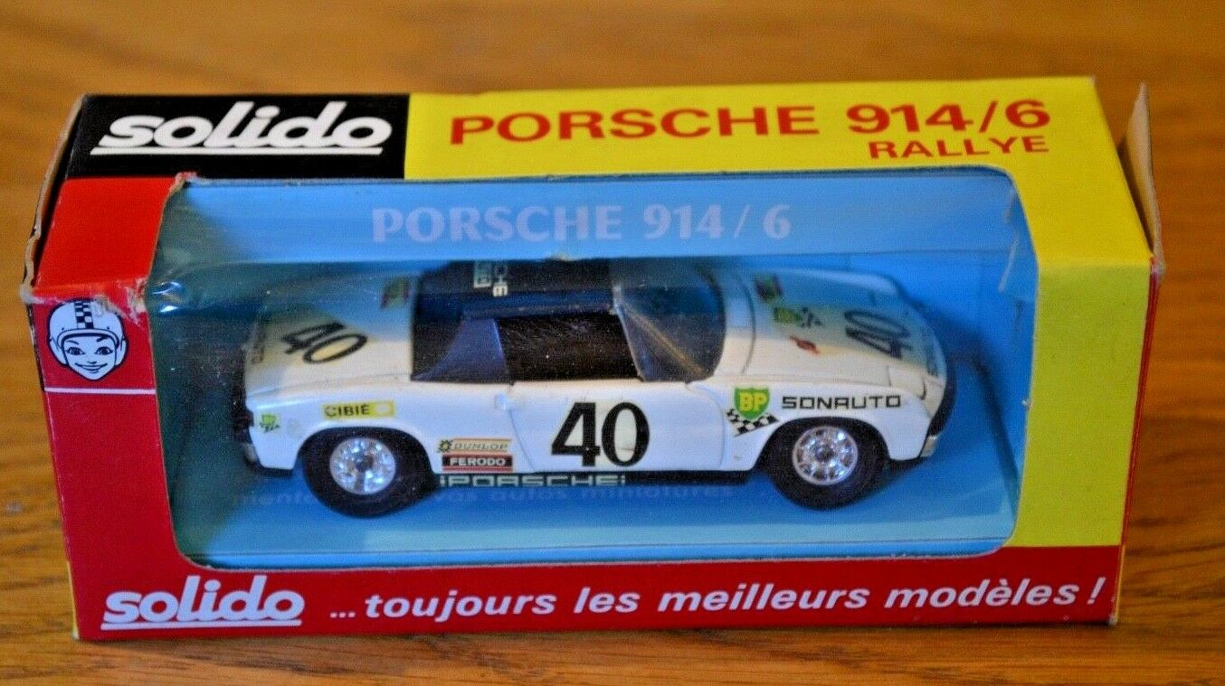 Vintage Boxed Solido Porsche 914 6 Rallye