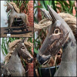 Holzschaukelpferd deko Antik Retro Pferde Handmade