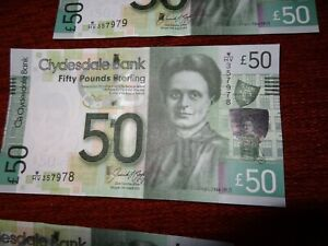 Qty-x-1-Clydesdale-Bank-50-Note-Glasgow-16-08-2015-Uncirculated