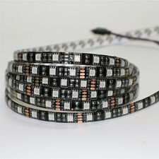 50cm Waterproof rgb Flexible 30 led strip Light Black PCB 5050 SMD tape Lamp 12v
