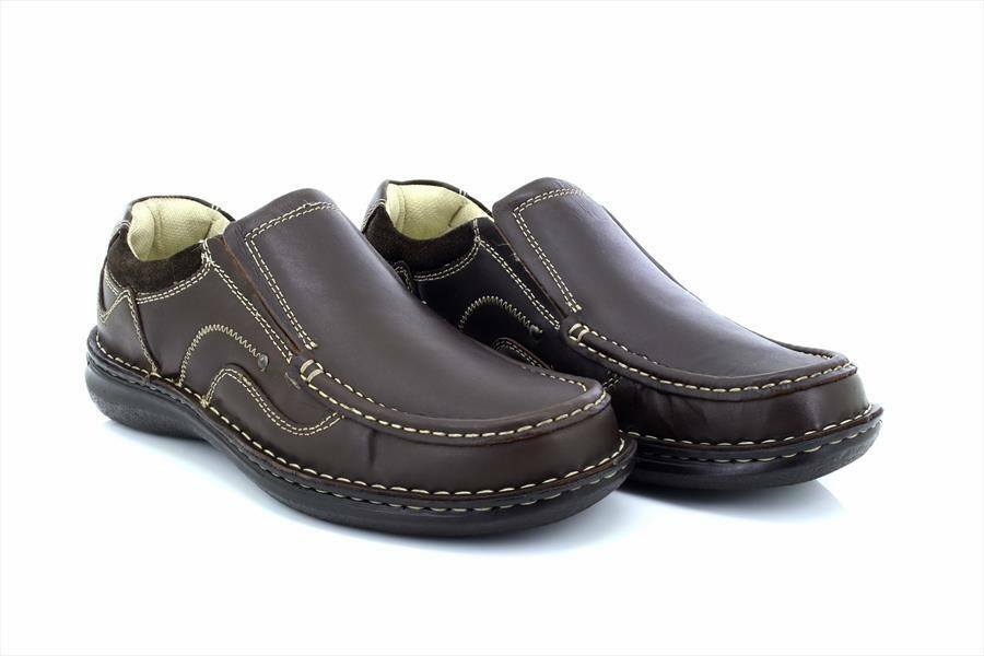 Dr Keller Neptune Hombre Wide Fit On Cushion Comfort Slip On Fit Loafers Zapatos Marrón 4ddd78
