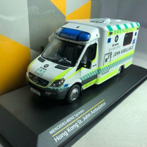 John Ambulance 1//43 TINY Mercedes-Benz Sprinter Hong Kong St