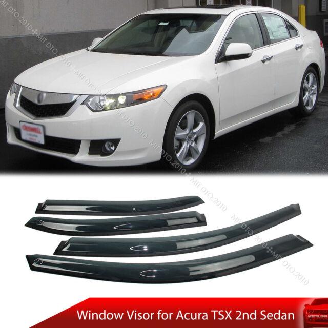 Window Visor Rain Guard Weather Shield For Acura TSX 2nd