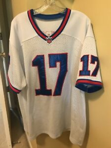 RARE VINTAGE NEW YORK GIANTS JERSEY  17 WHITE SEWN ON TEDDY NFL ... a02e7f8fe