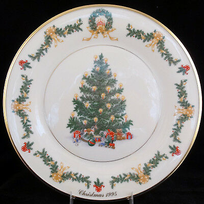 CHRISTMAS TREE PLATE series AUSTRIA Lenox made IN USA 10 ...