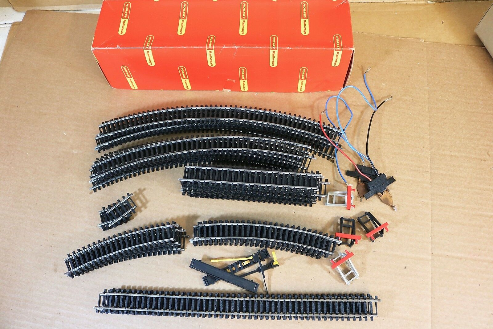Hornby Sistema 6 Early 1970s Volumen Pista Lote Punto Curva Recto Mint Np